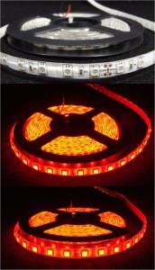 LED pásek červená 24V ( čip 5050 )
