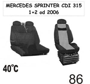 autopotahy Mercedes Sprinter CDI od 2006 1+2