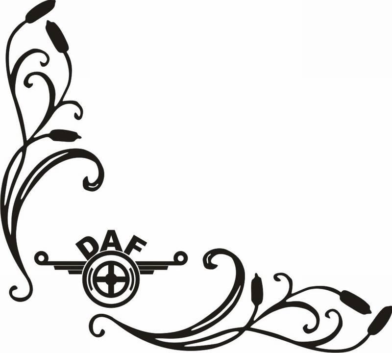 samolepka Dekor DAF 045
