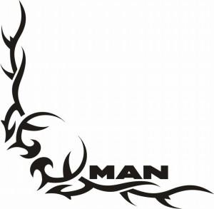 samolepka Dekor MAN 123
